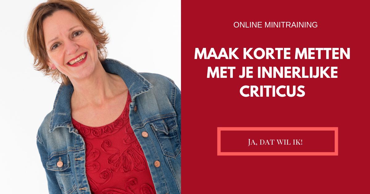 Maak korte metten met je innerlijke criticus